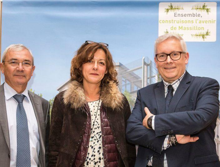 Jean-Jacques Herlem, Sandrine Gasquet et Thierry Michon