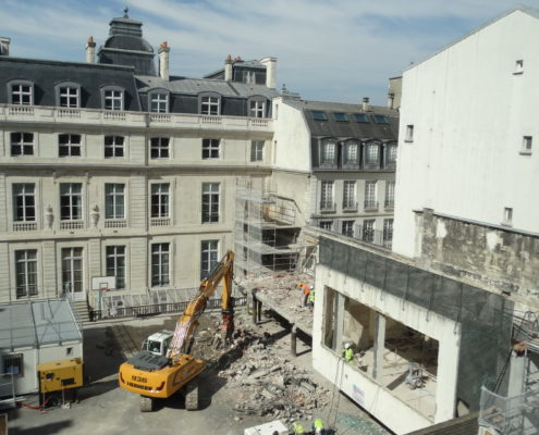 Démolition anciens laboratoires école Massillon