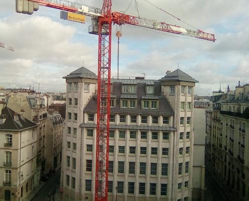 Grue travaux nouveau bâtiment école Massillon