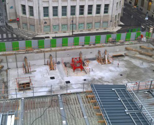 Travaux fondation nouveau bâtiment école Massillon